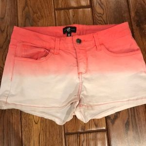 Coral and white ombré shorts. Size medium.